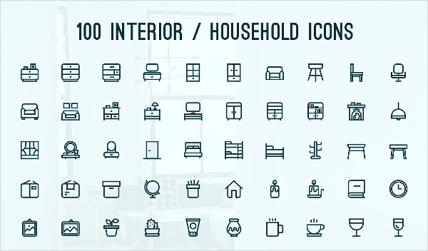 Perfect Home Interior Icons