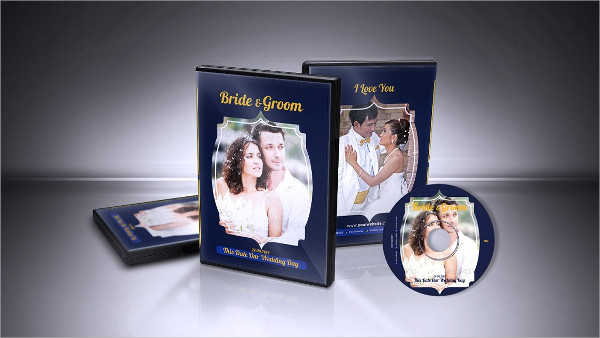 Print Ready Wedding DVD Cover Template