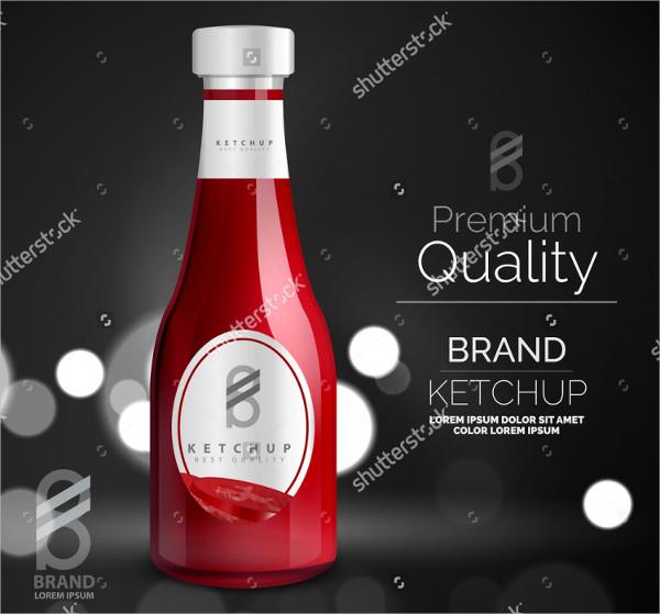 Brand Quality Sauce Bottle Mock-Up