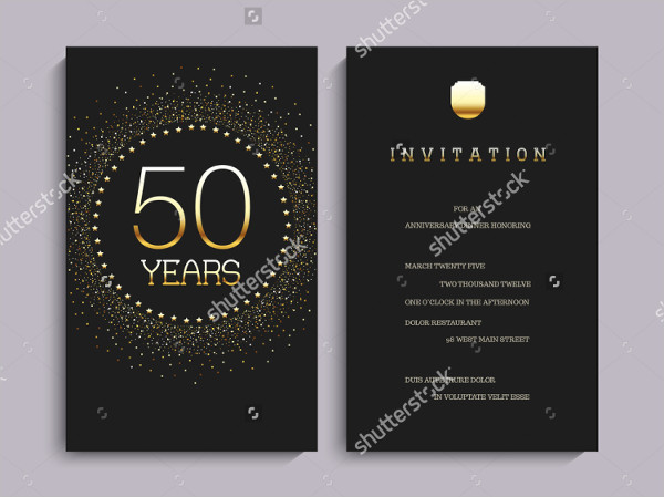 Examples of 50th Birthday Invitations