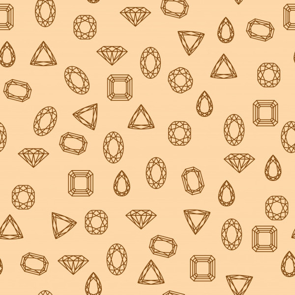 Retro Diamonds Pattern Free Vector