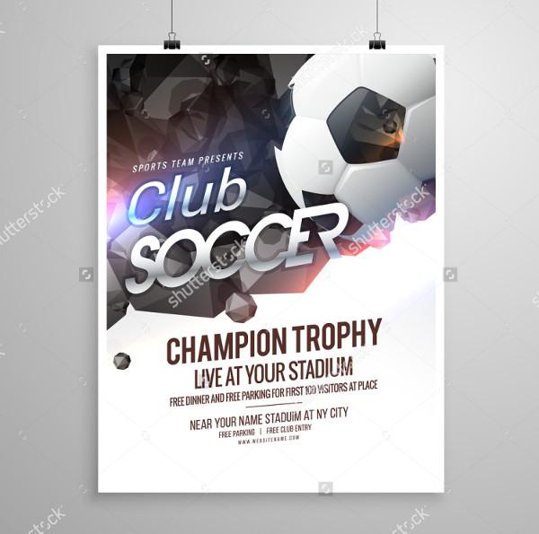 Soccer Event Flyer Design Template