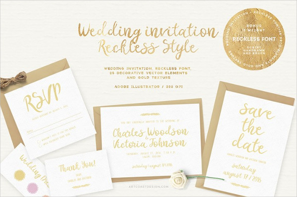 Tri-Fold Wedding Invitations Template