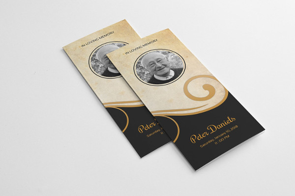 Trifold Funeral Program Template Microsoft Word