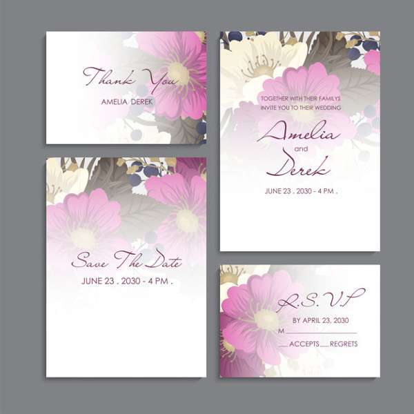 Wedding Card Invitation Design With Thank You Cards Free