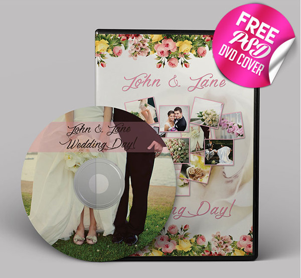 Wedding DVD Cover Template Free Download
