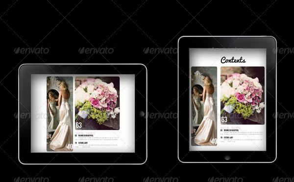 iPad & Tablet Wedding Magazine Template