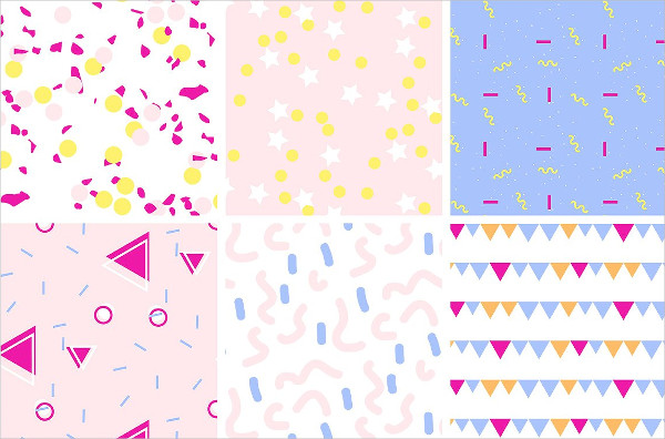 12 Birthday Party Vector Pattern