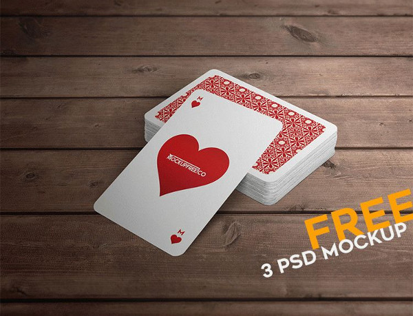 3 Free PSD Playing Cards Mock-Ups