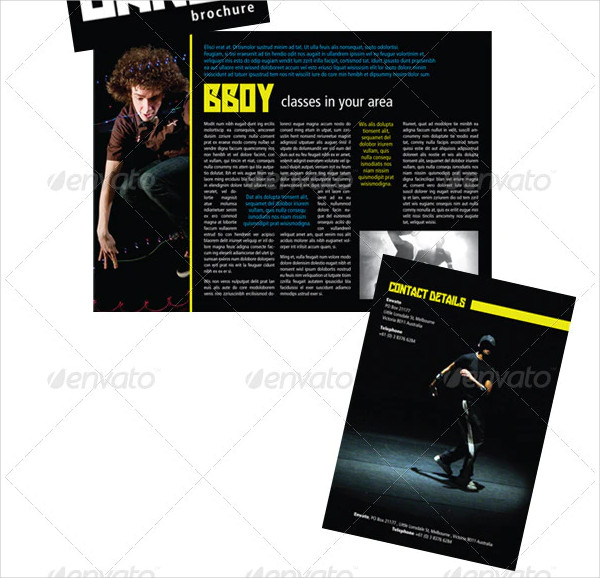 A5 Four Page Dance Brochure Template