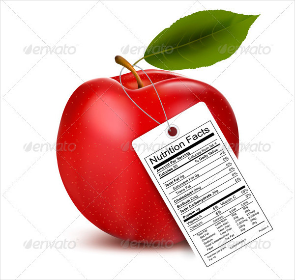 Fully Editable Nutrition Facts Label