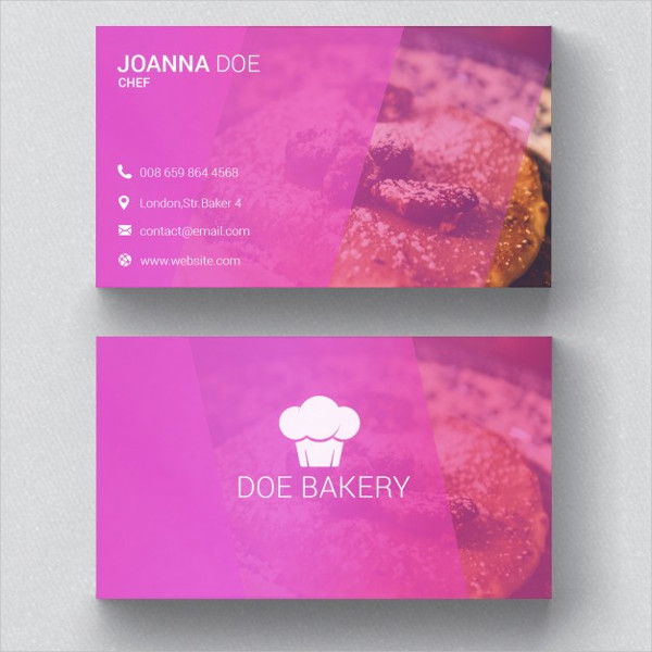 Free PSD Bakery Business Card Template