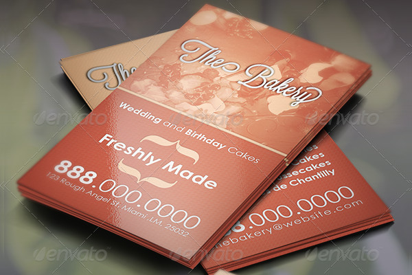 Retro Bakery Business Card Template