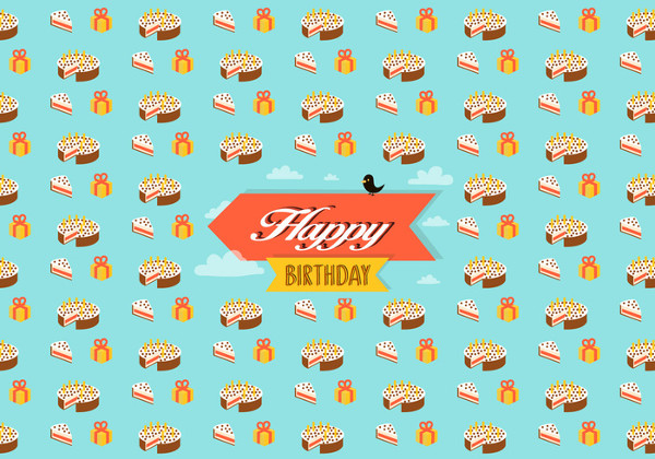 Free Download Birthday Pattern Background