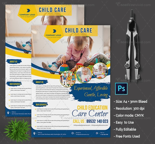 New Day Care Flyer Template