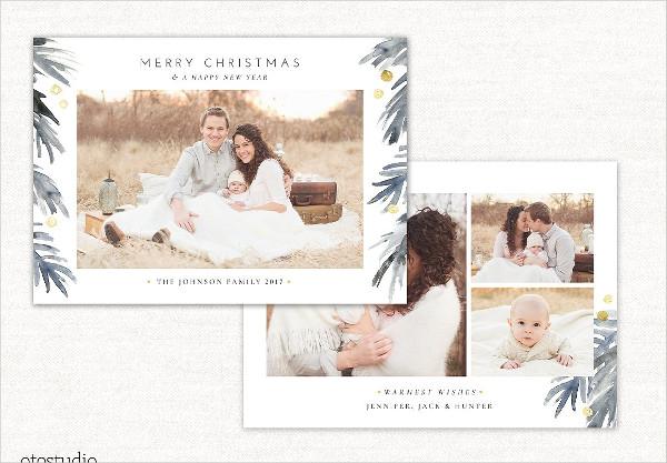 Christmas Card Template Holidays