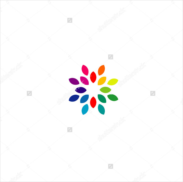 Colorful Business Logo Template of Flower