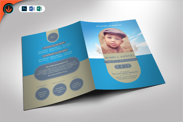 Colorful Baby Funeral Photoshop Template
