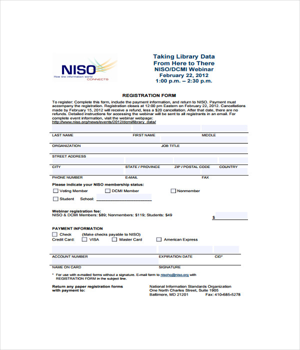 Company Registration Form Template