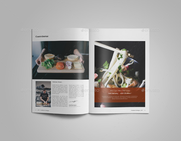 Cookbook Recipes catalog Design