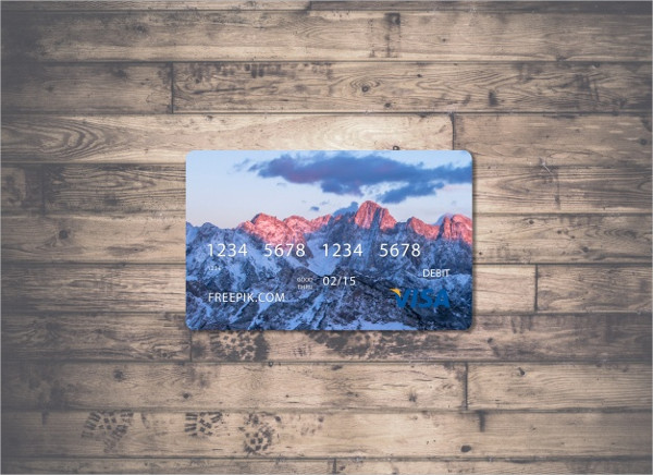 Credit Card Mock Up Design Free
