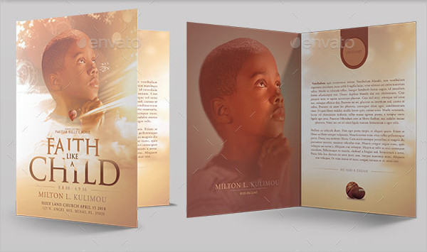 Editable Child Funeral Program Template