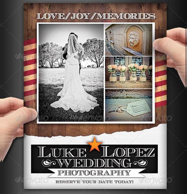 Editable Wedding Photography Flyers set