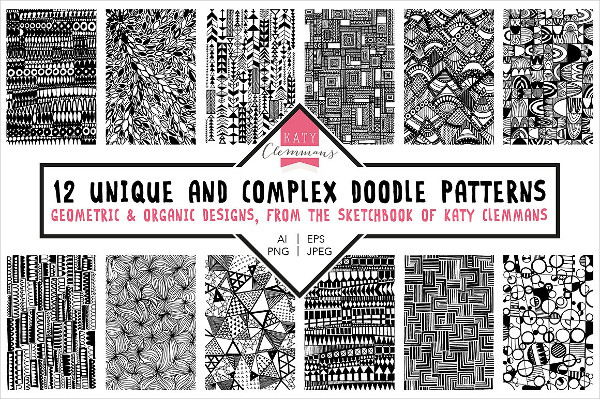Epic Hand Drawn Doodle Patterns