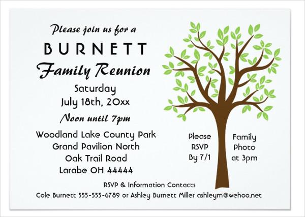 Family Tree Reunion Invitation Template