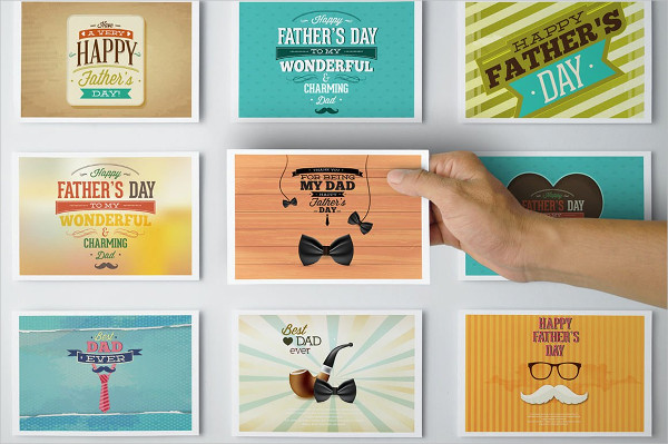 Father's Day Postcards Mockup