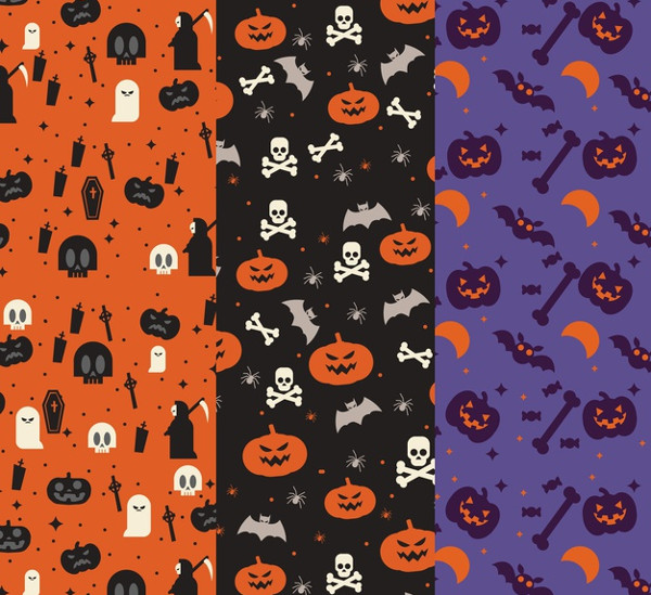 Halloween Pattern Collection Free Download