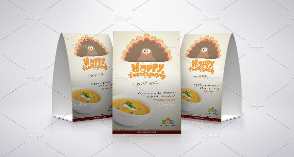 Happy Thanksgiving Table Tent Template