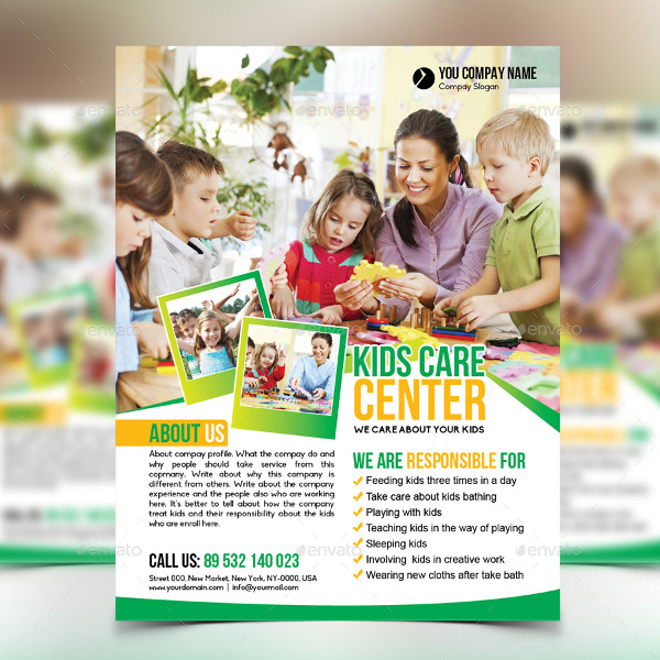 Kids Day Care Center Flyer