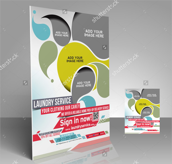 Laundry Services Presentation Flyers