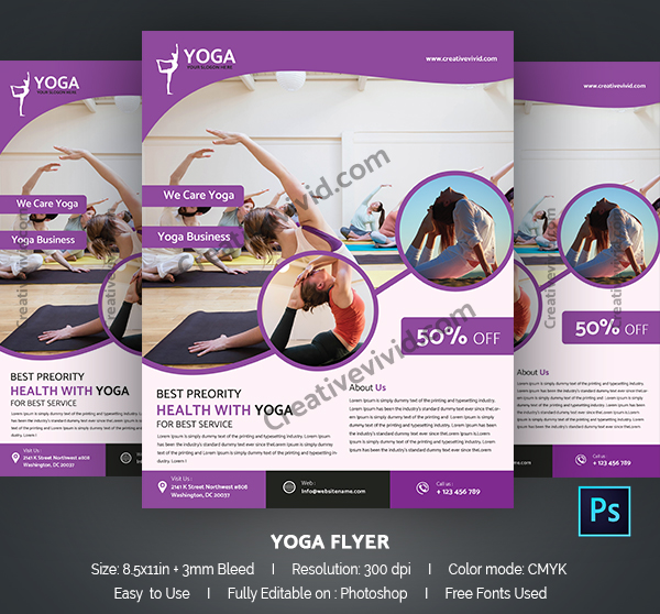 Classic Yoga Flyer Template Free