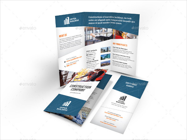 Perfect Construction Company Tri-Fold Brochure