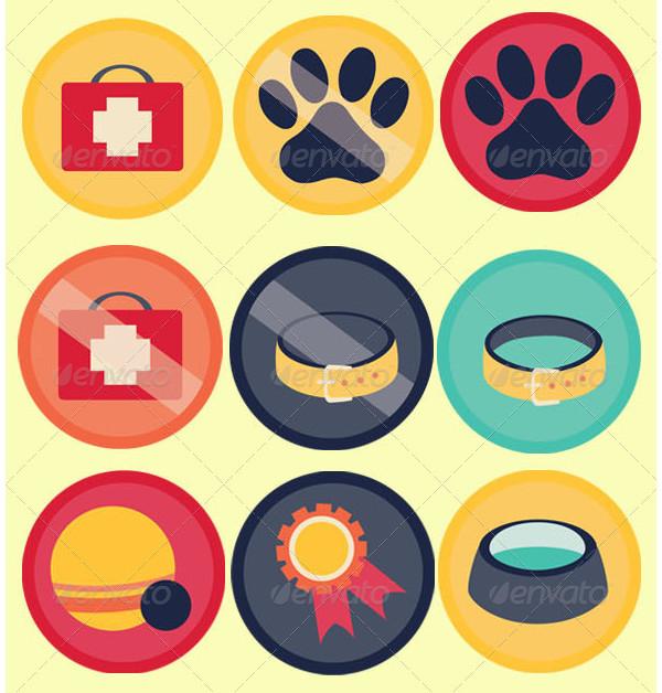Editable Pet Icon Set