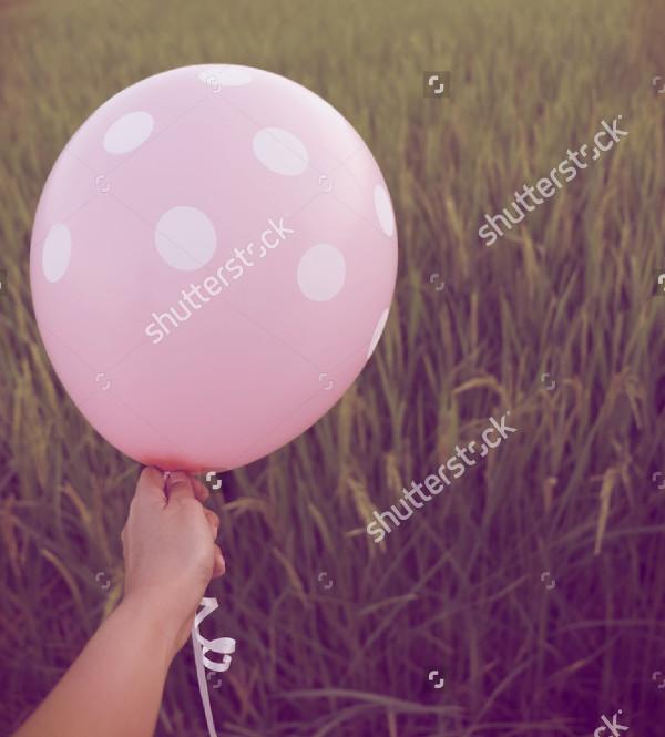 Pink Balloon Mock-Up