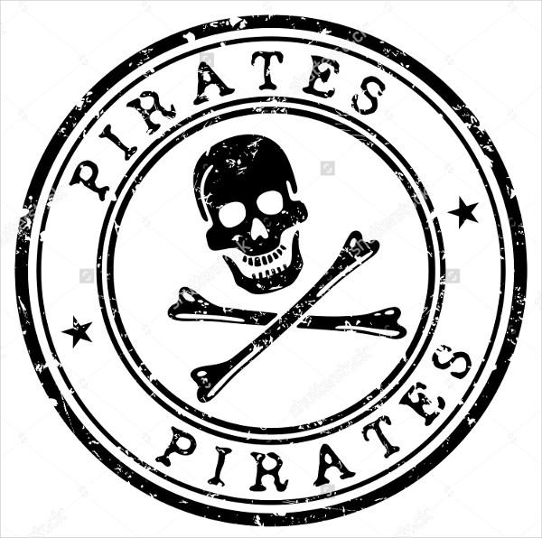 Pirate Stamp Vector Design