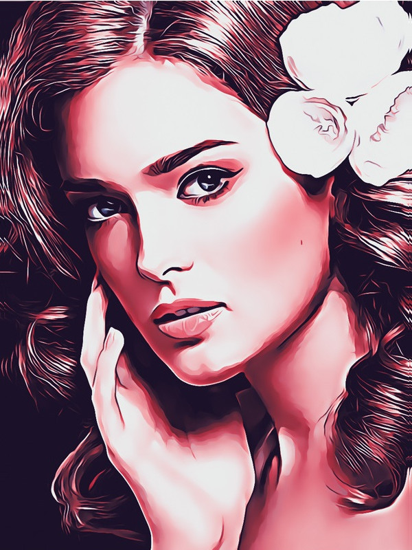 Portrait Cartoon Style Photoshop Action