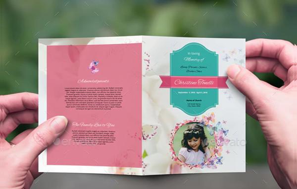 Print Ready Memorial Program PSD Design