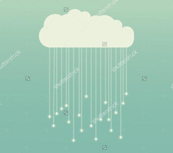 Raining Background Vector