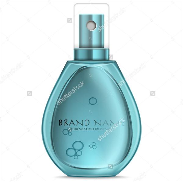 Realistic Perfume Isolated Mock-up