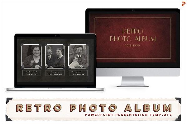 Retro Photo Album PPT Template
