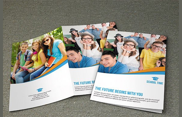School Time Brochure Template