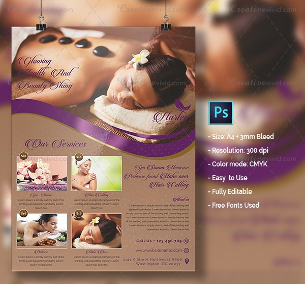Best Spa Salon Flyer Template