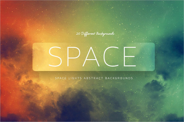Space Lights Abstract Background Set