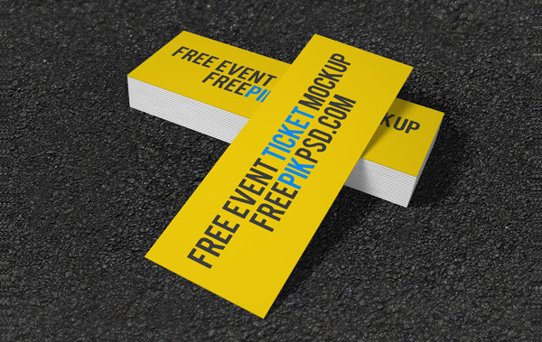 Free Concert Event Tickets Mockup