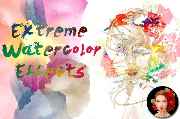 Extreme Watercolor Photoshop Action
