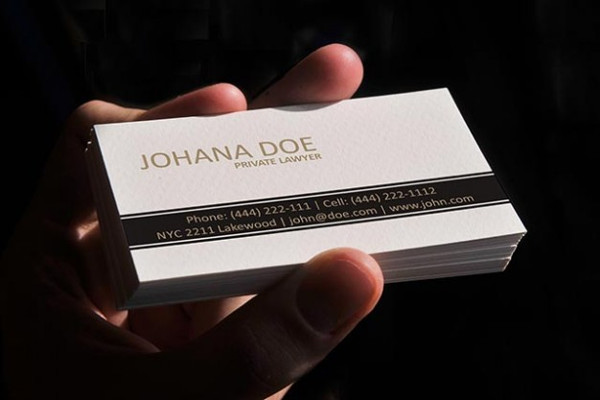 Lawyer White Design Business Card Free
